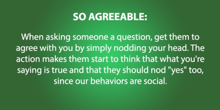 4) So Agreeable