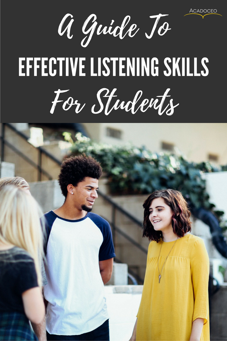Learning to listen effectively will not only benefit you during your studies but also when you enter the working world.  It is a skill that both leaders and managers must develop in order to be successful. Not to mention how it will benefit your relationships with other people. In this guide we will uncover effective listening skills for students.