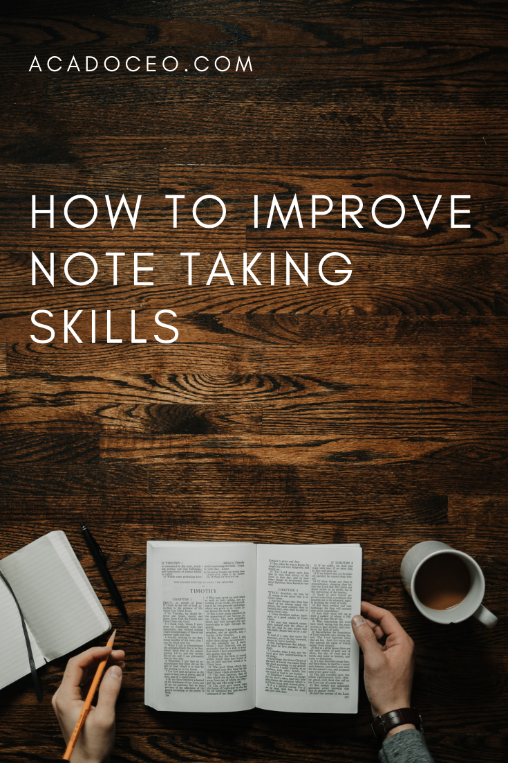 How to Improve Note Taking Skills