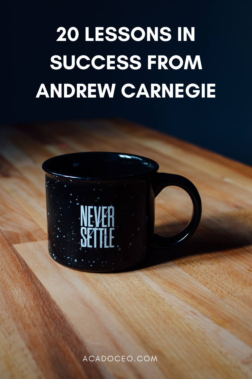20 LESSONS IN SUCCESS FROM ANDREW CARNEGIE