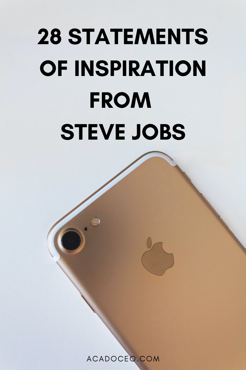 28 STATEMENTS OF INSPIRATION FROM STEVE JOBS