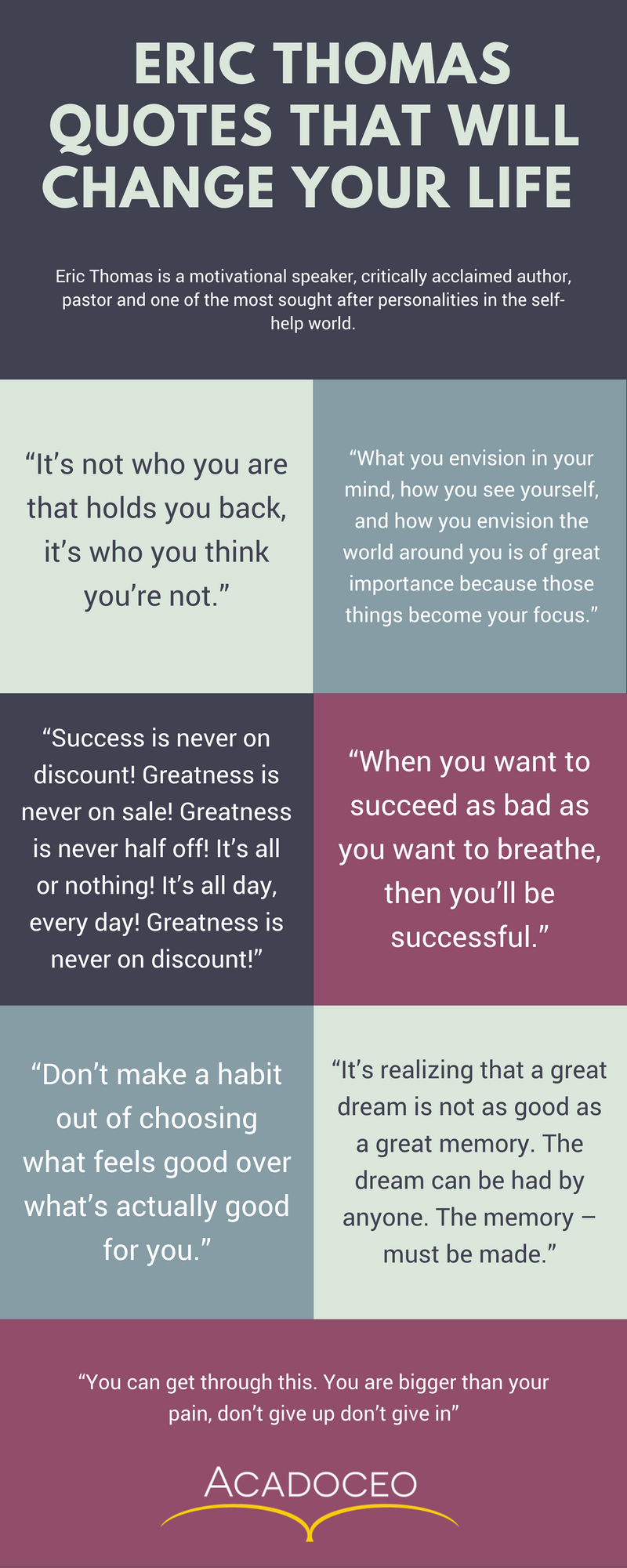 Eric Thomas Quotes that will change your life infographic